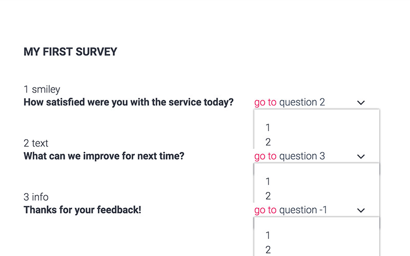 create survey flows